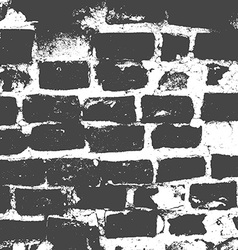 Brickwork brick wall of an old house black and vector image vector image