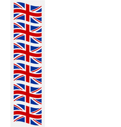 british flags frame banner vector image
