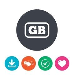 British language sign icon GB translation vector image