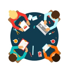 Business team top view vector image