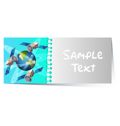 Card template with earth and satellites vector