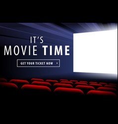 cinema screen view vector image