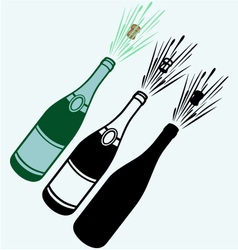 Close-up of champagne explosion vector image