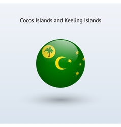 Cocos Islands and Keeling Islands round flag vector