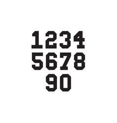 College jersey team numbers vector