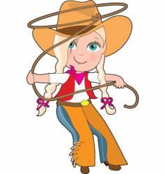 Cowgirl kid vector