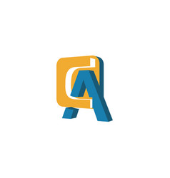 creative abstract letter ca logo design vector image