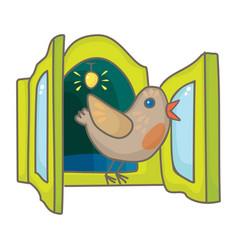 Cuckoo bird from the cuckoo clock vector
