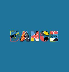 Dance concept word art vector
