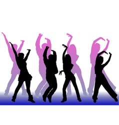 Dancing peoples vector