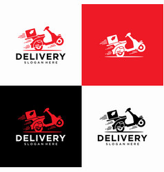 delivery logo design template vector image