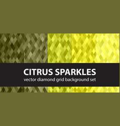 diamond pattern set citrus sparkles seamless vector image