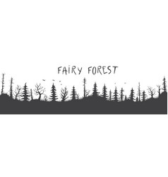 fairy forest silhouette vector image