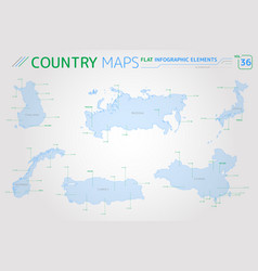 finland russia turkey norway china and japan vector image