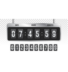 flip countdown clock timer counter vector image