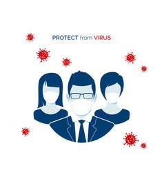 flu infection or virus outbreak people in vector image