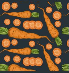 Fresh organic vegetables pattern vector