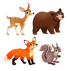 Funny animals of the wood vector
