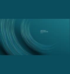 Futuristic geometric lines in half circle shape vector