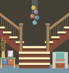 Hallway Decoration vector image