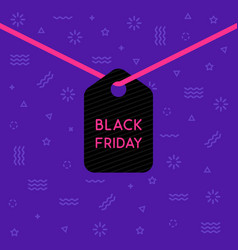 hanging label with black friday text vector image