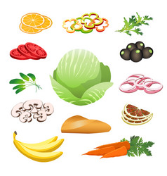 healthy food set vector image