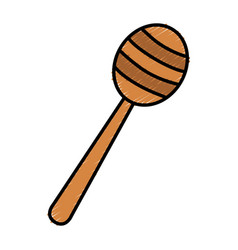Honey stick isolated icon vector