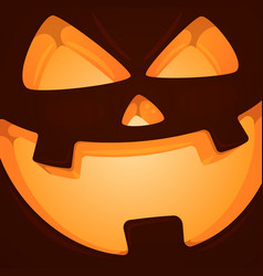 horror face pampkin halloween vector image