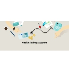 Hsa health savings account vector