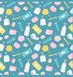 hygiene products and accessorises seamless vector image