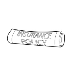 Insurance policy icon outline style vector image