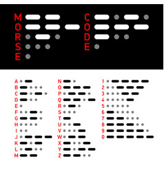 international morse code alphabet and numbers vector image