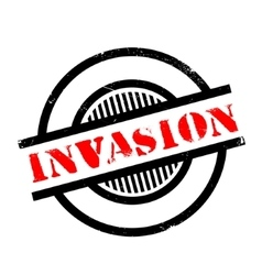 Invasion rubber stamp vector