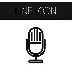 Isolated microphone outline mic element vector