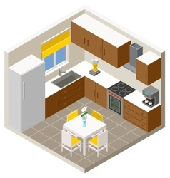 Isometric kitchen vector