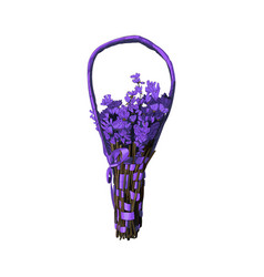 lavender bouquet with handle isolated on white vector image