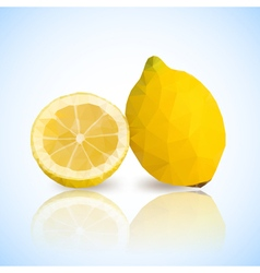 lemon polygonal vector image