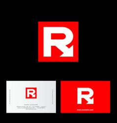 logo r arrow vector image