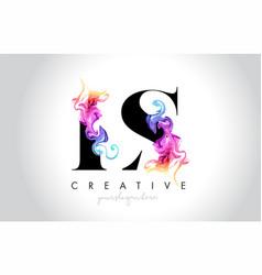 Ls vibrant creative leter logo design vector
