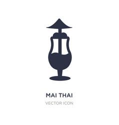 Mai thai icon on white background simple element vector