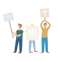 male and female protesters or activists standing vector image
