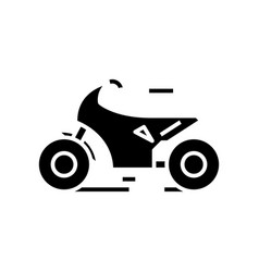 Motobike sport black icon concept vector