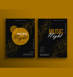 Music night party flyer template design vector