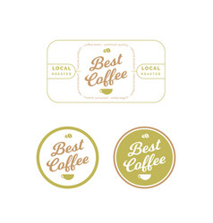 organic coffee label and badge vector image