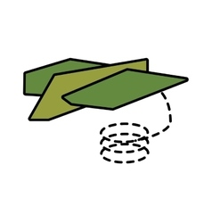 Paper plane different launch fly line dotted vector