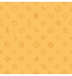 seamless background pattern for leisure sport vector image