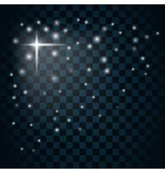 Shine star sparkle icon 3 vector image