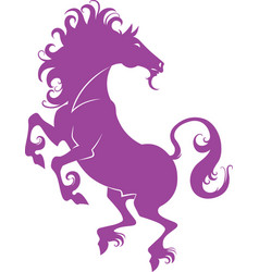 silhouette of a stallion vector image