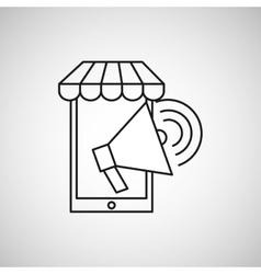 Smartphone speaker ecommerce design vector