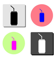 soda can flat icon vector image